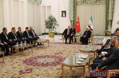Başkan Erdoğan-Ruhani görüşmesi