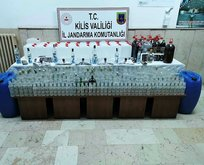 Kilis'te sahte içki operasyonu! Yüzlerce litre...