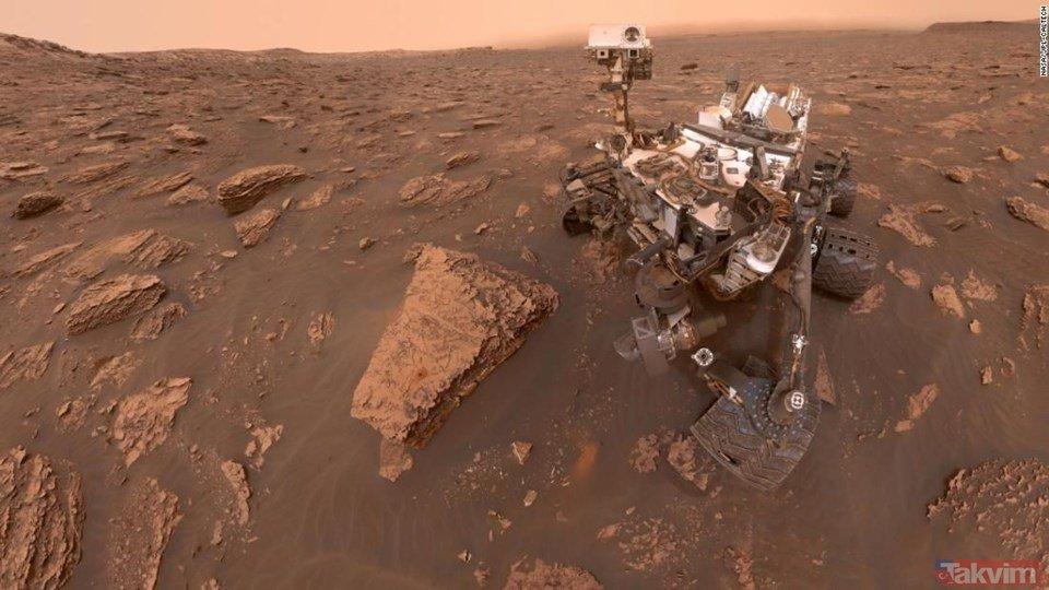 Mars'taki Curiosity'den 360 derecelik özçekim!