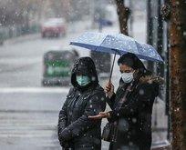 Ankara güne karla uyandı