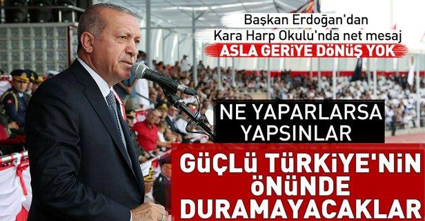 Başkan Erdoğandan Kara Harp Okulunda önemli mesajlar
