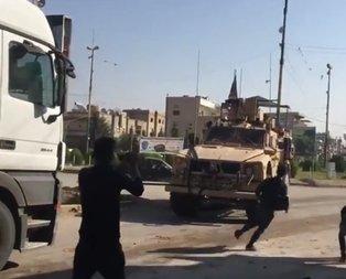 YPG'liler Amerikan askerlerini taşladı