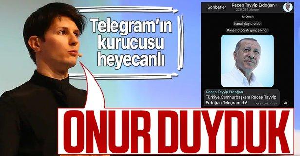 Telegram'ın kurucusu, Başkan Erdoğan'ı örnek verdi