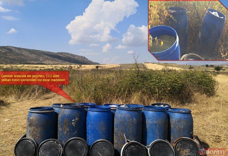 Diyarbakır'da PKK'ya büyük darbe! Tonlarca uyuşturucu ele geçirildi