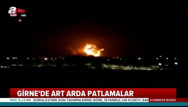 KKTC'de mühimmat deposunda patlama MSB'den Girne'deki patlama ilişkin açıklama Video