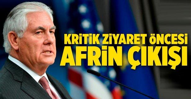 ABDden Afrin açıklaması