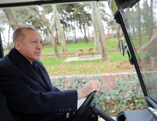 Başkan Erdoğan, Esenler'de yapımı tamamlanan 15 Temmuz Millet Bahçesini gezdi