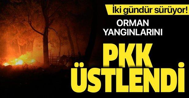Orman yangınlarını PKK üstlendi