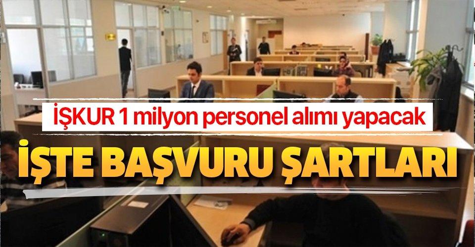 İŞKUR 1 milyon personel alımı yapacak! 2500 TL maaşla iş ilanı başvuru şartları nedir, ne zaman açılacak?