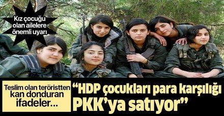 Teslim olan teröristten HDP itirafı: Çocukları kandırıp PKK'ya ...