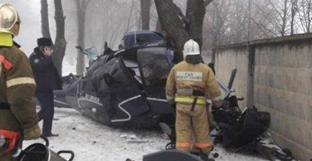 Kazakistan'da helikopter kazası