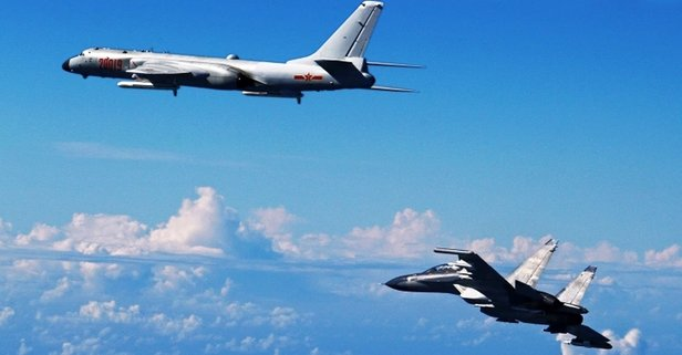 Çin 12 savaş uçağıyla Tayvan hava sahasına girdi!
