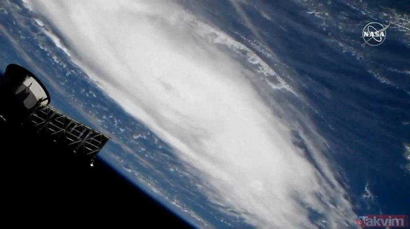NASA korkunç görüntüleri yayınladı! Dorian Kasırgası hızla geliyor