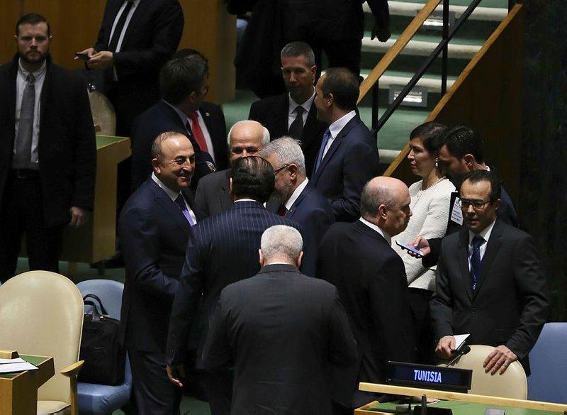 BMdeki tarihi Kudüs oylamasından kareler