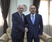 Bakan Çavuşoğlu, Filistinli mevkidaşıyla görüştü