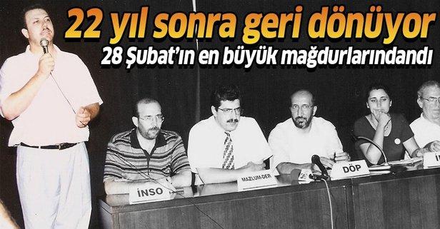 28 Şubat mağduru gazeteci Türkiye'ye geri dönüyor