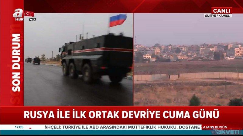 Kamışlı'dan yeni görüntü! Rus askeri polisi devriyede