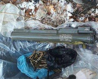 PKK'lı teröristlere ait lav silahı ele geçirildi!