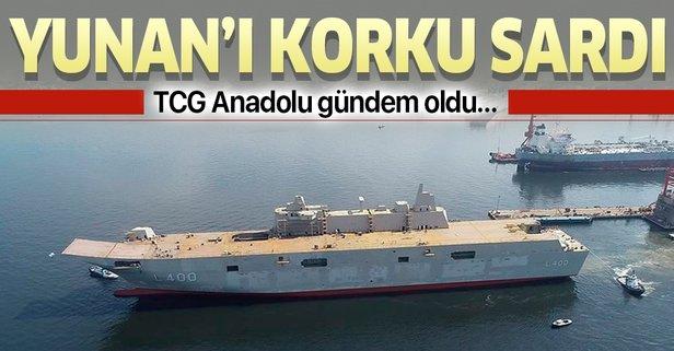 TCG Anadolu, Yunan basınında gündem oldu!