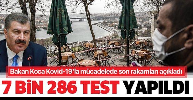 Bakan Koca Kovid-19 bilançosunu açıkladı