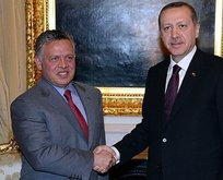 Başkan Erdoğan, Ürdün Kralı ile bir araya geldi