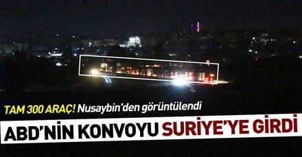 ABD'nin Suriye'ye gönderdiği 300 araçlık konvoyu Nusaybin'den görüntülendi