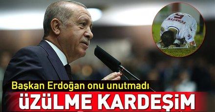 Başkan Erdoğandan Ampute Milli Takımına mesaj