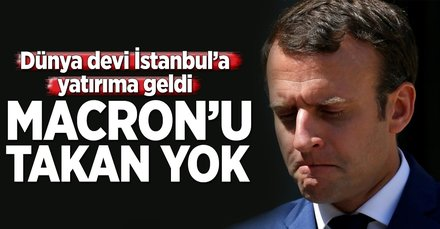 Macrona inat İstanbul aşkı