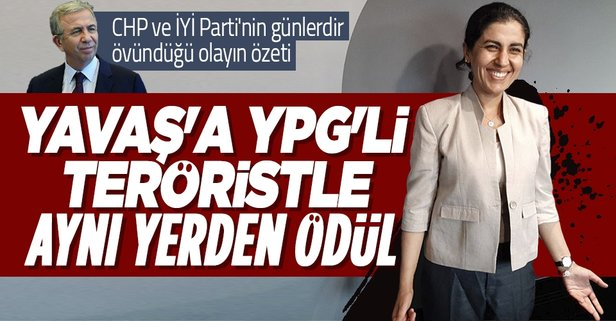 ABB Başkanı Yavaş'a YPG'li terörist ile aynı yerden ödül