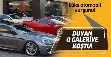 Antalya'da lüks otomobil vurgunu! Bir çok insan o galeriye akın etti!