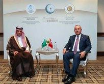 Bakan Çavuşoğlu Suudi mevkidaşı ile görüştü