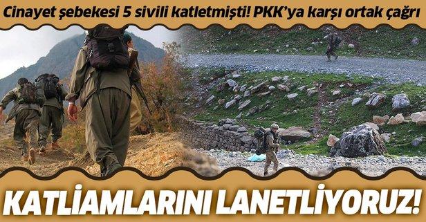 PKK'nin sivil katliamlarına kınama çağrısı