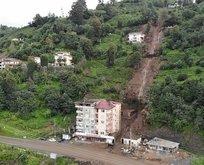 Giresun'dan sonra Rize'de felaket! 2 bina boşaltıldı
