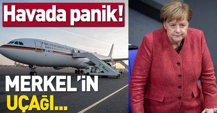 Merkel'in uçağı Köln'e acil iniş yaptı