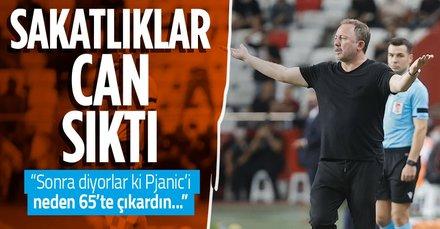 Sergen Yalçın'dan sakat futbolculara ilişkin açıklama! Ajax maçına yetişecekler mi? Batshuayi, Larin, Pjanic...