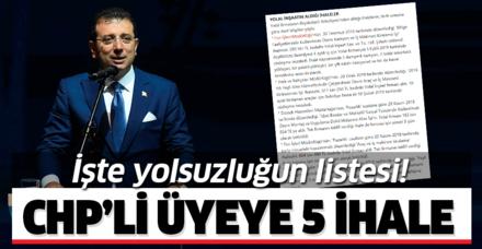 İmamoğlu'nun geçen dönem başkanlık yaptığı Beylikdüzü Belediyesi'nden CHP'li Soner Yolal'a 5 ihale