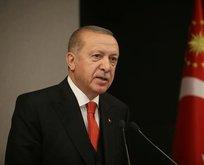 Erdoğan'dan şehit ailelerine taziye mesajı