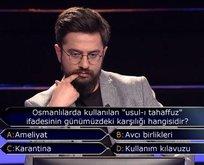 Milyoner'e damga vuran Osmanlı sorusu!