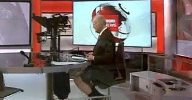 BBC canlı yayınında şoke eden görüntü