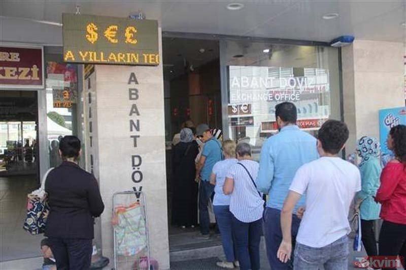 Türkiyede halk döviz bürolarında soluğu alıyor