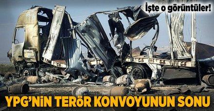 Türkiye'nin vurduğu terör konvoyunun gündüz fotoğrafları ortaya çıktı!