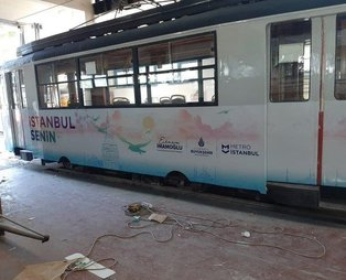 CHP'li İmamoğlu nostaljik Kadıköy-Moda tramvayında reklam uğruna tarihi hiçe saydı!