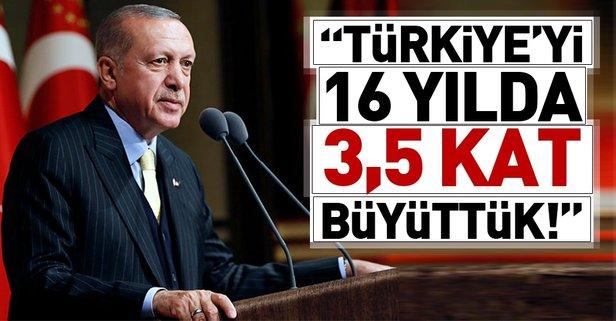Erdoğan: Türkiyeyi 16 yılda 3,5 kat büyüttük