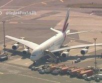 ABD'de 500 yolculu uçak karantinaya alındı