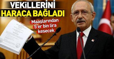 Kılıçdaroğlu'nun kaybettiği davalar için CHP'li vekillerden 5'er bin TL kesilecek