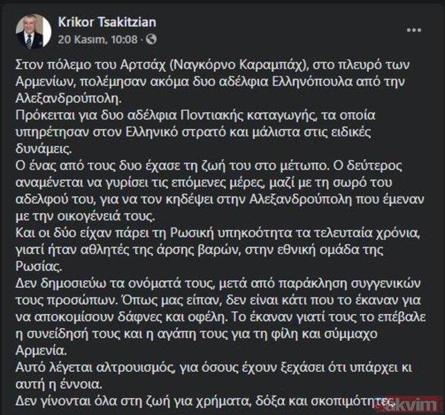 Ermenistan saflarında Azerbaycan'a karşı savaşan Yunan sporcu öldürüldü!