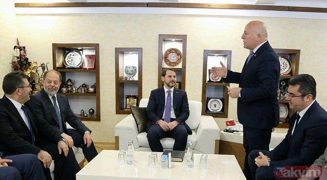 Bakan Albayrak'a Erzurum'da vatandaşlardan yoğun ilgi