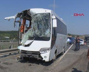 İstanbul'da servis kazası! Çok sayıda yaralı var
