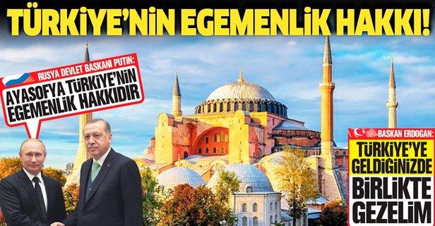 Ayasofya Türkiye'nin egemenlik hakkıdır