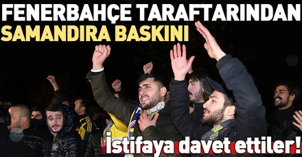Fenerbahçe taraftarından 02:00'de büyük protesto